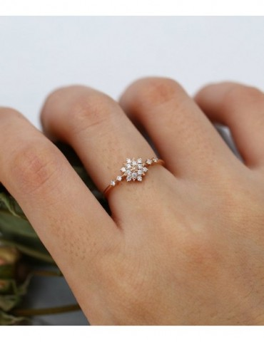 Rose gold engagement ring...