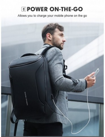 Fashion Men Backpack Multifunctional Waterproof 15.6 inch Laptop Bag Man USB Charging Travel Bag