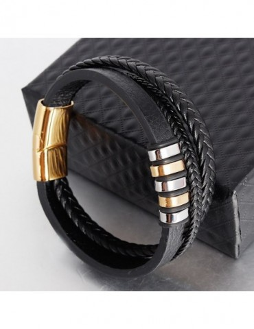 New Leather Bracelet Men...