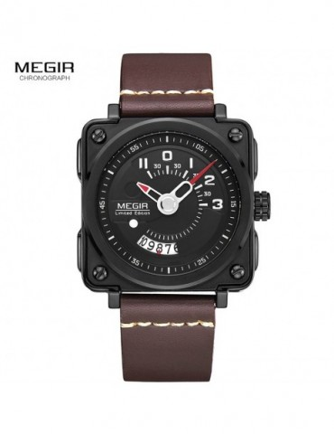 Megir Square Analog Dial...