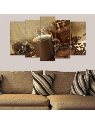 Coffe printed wallpaper for home