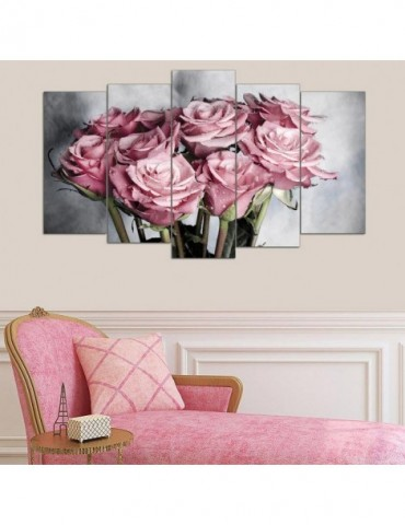 Pink rose flowers on...