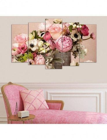 Flower on table fashion wall decoration for home