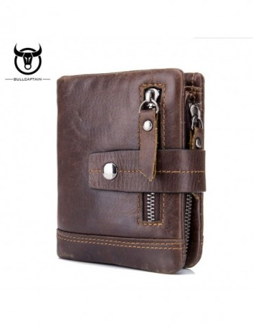 Cow Leather Men Wallet Fashion Coin Pocket Brand Trifold Multifunction Men Purse High Quality