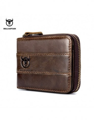 Mens Wallet Cowhide Coin...