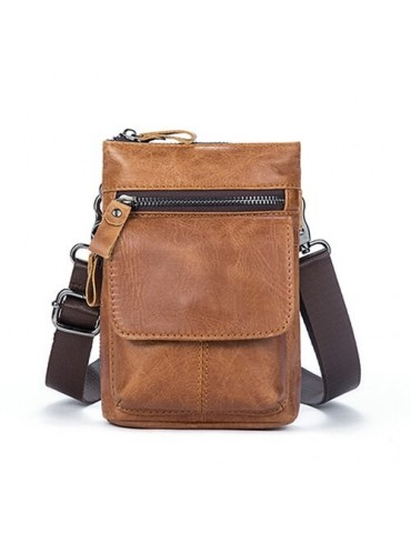 Genuine Leather Bag Men...