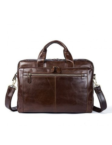 Men Leather Briefcase...