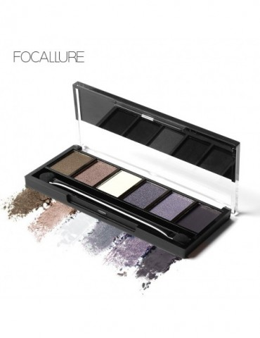 FOCALLURE 6 Colors Eye Shadow Makeup Shimmer Matte Eyeshadow Earth Color Eyeshadow Palette
