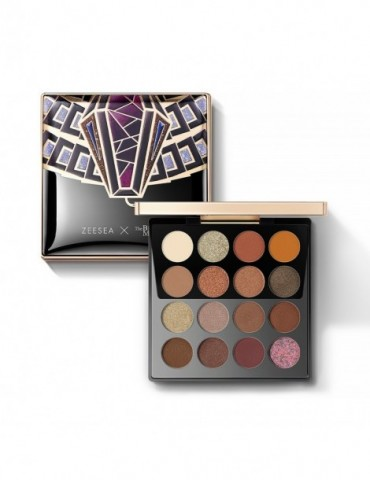 ZEESEA x The British Museum Egypt Collection 16 Colors Palette WaterProof Glitter Matt Eye Shadow