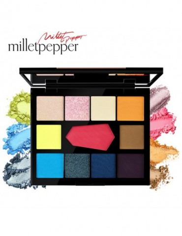 DISCO&EDM 11 Colors Eyeshadow Palette Charming Pigment Eye Shadow Matte Shimmer Glitter Powder Lasting Makeup