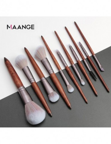 MAANGE 11Pcs Makeup Brushes Set Cosmetic Foundation Powder Blush Eye Shadow Lip Blend Wooden Make Up