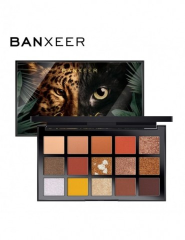 BANXEER Palette Eyeshadow Makeup Pelette Eye Shadow 15 Colors Glitter High Pigment Eyeshadow Makeup