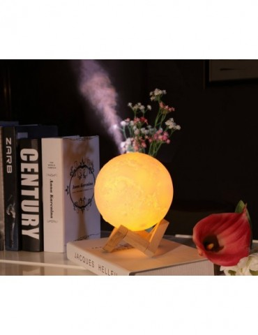 3D Moon light Air HUmidifier 880ML Diffuser Aroma Essential Oil USB Ultrasonic Humidificador Night Cool Mist Maker Purifier