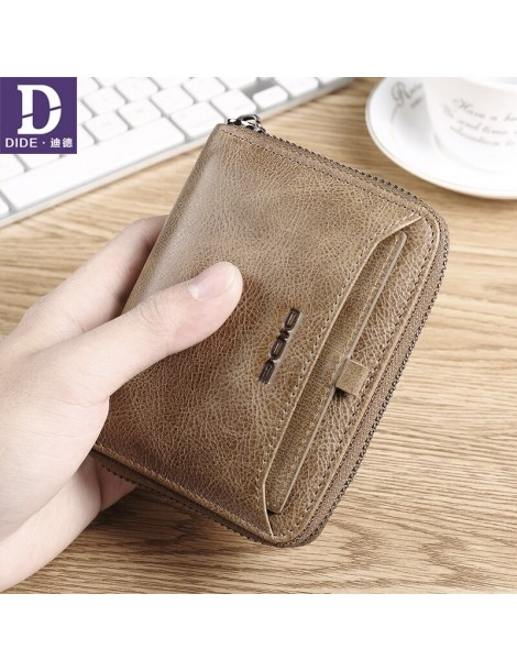 Genuine Cowhide Leather Men Wallet Short Coin Purse Small Vintage Wallets Brand High Quality Designer Organizer Card Holder