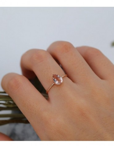 Art deco Morganite...