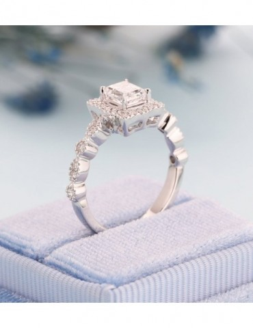 Moissanite emerald cut...