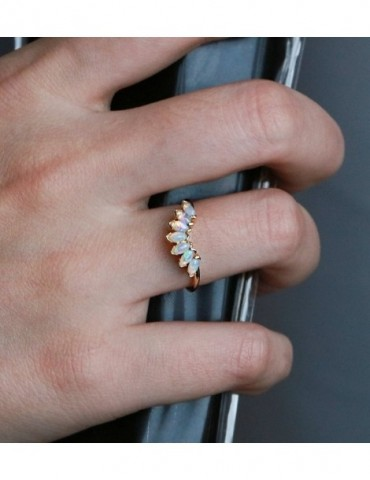 Vintage wedding band opal...