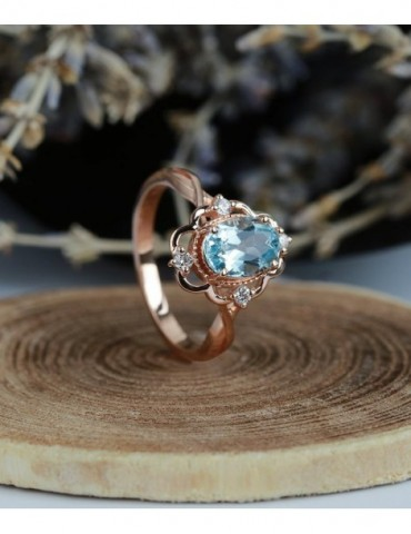 Aquamarine engagement ring...