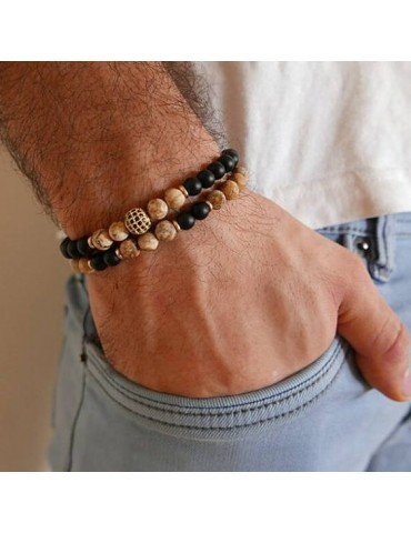 Men Bead Bracelet Charms...