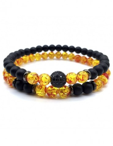Men Bead Bracelet Bangle...