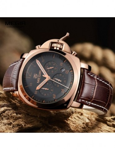 Megir male fashion quartz...