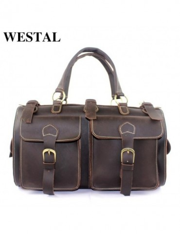 Genuine Leather Travel Bags Men Bag Multifunction Men Outdoor Tote Bag