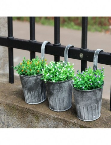 1x Flower Pot home decoration accessories Garden Hanging Balcony Plant hogar Home Decor Metal Iron Potted Planter home décor
